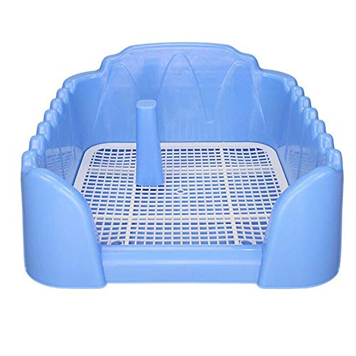 NBRTT Dog Pet Potty Puppy Toilet Indoor Plastic Training with Fence and Target Pee Animal Pad Litter Mat Tray Portable Holder Post Practical Simulation Wall
