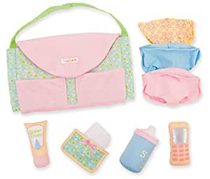Manhattan Toy Baby Stella Darling Diaper Bag Changing Set and Accessories for Nurturing Dolls