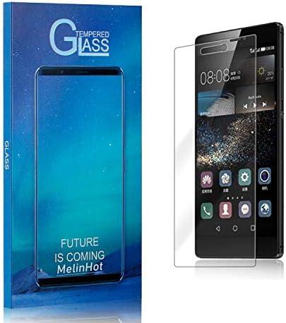 Displayschutzfolie für Huawei P8, MelinHot Ultra klar Schutzfilm aus Gehärtetem Glas, Anti Öl, Anti Kratzen, Hoch Transparenz, 1 Stück