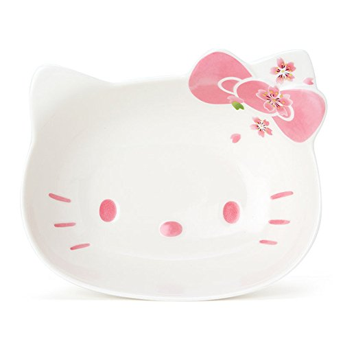 Hello Kitty Ceramic Face Bowl,Cerezo Pink, Made in Japan (M) by Yutoriya