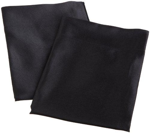 Divatex Home Fashions Royal Opulance Satin Pillow Case Pairs, Black