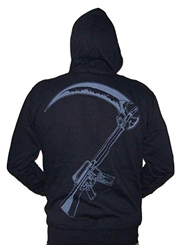 e77cf71fc8b Sons Of Anarchy Reaper Crew SOA Adult Zip UP Hoodie S - Import It All