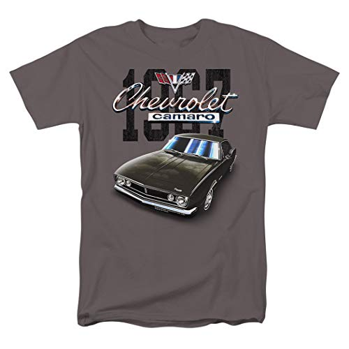 Chevy Camaro Tuxedo Black Classic Car 1967 T Shirt & Exclusive Stickers (X-Large) (Shirt Classics Holiday)