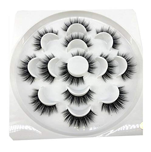 bin123 1/2/7 pairs natural false eyelashes fake lashes long makeup 3d mink lashes eyelash extension mink eyelashes for -