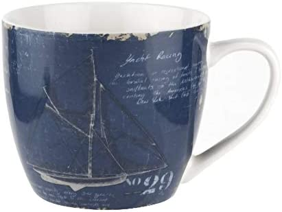 Amazon Com Pimpernel 16oz Mug Yacht Study Kitchen Dining