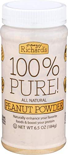 Crazy Richard's 100% Pure Peanut Butter Powder 6.5 oz Jar (100% Pure Peanut Butter Powder 6.5 oz, 1 Jar)