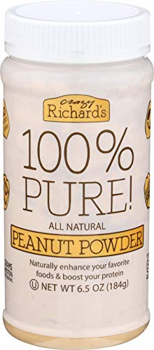 Crazy Richards 100% Pure Peanut Powder, Non-GMO, Gluten-Free, 6.5 Ounce Jar