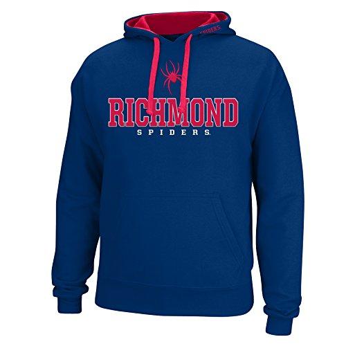 School Spider - J America NCAA Richmond Spiders Men's Logo School Name Foundation Hoodie, Navy/Red, XX-Large