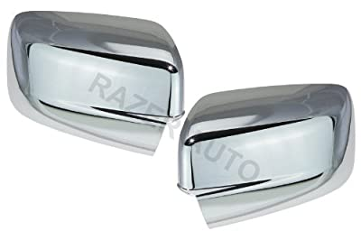 Razer Auto CHROME MIRROR COVER WITHOUT TURN SIGNAL, NOT FOR TOWING MIRRORS, for 2009-2017 DODGE RAM 1500, 2010-2017 DODGE RAM 2500,3500