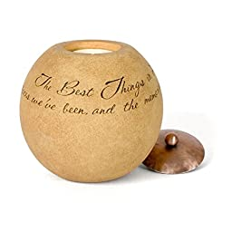 Comfort Candles The Best Things in Life by Pavilion Tea Light Candle, 4-1/2-Inch Round, Sentimental Saying