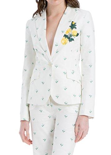 Summer Daisy Woven White Jacket by MAXSTUDIO