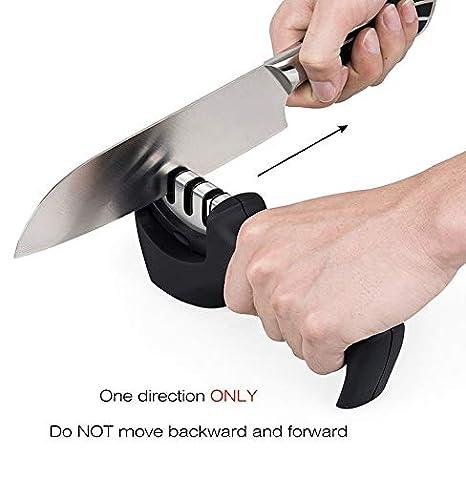 Lzlucky - Afilador de cuchillos profesional de 3 etapas para ...