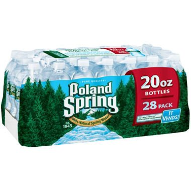 Poland Spring 100% Natural Spring Water (20 oz. bottles, 28 pk.) (pack of 6) by Poland Spring