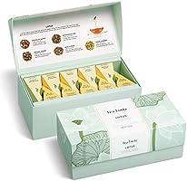 Tea Forte Lotus Relaxing Teas Presentation Box Tea Sampler Gift Set, 20 Assorted Variety Handcrafted Pyramid Tea Infuser...