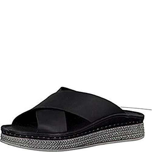 Leather Tamaris Black Zoccoli Zoccoli donna Tamaris X7vvqwx