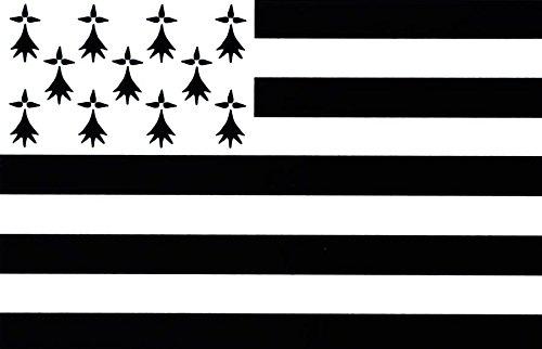 Autocollant sticker drapeau bretagne breton moto voiture adhesif vinyl vinyle Akacha SKU000600