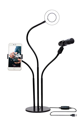 Cheap Continuous Output Lighting Selfie Ring Light With Cellphone Holder For Livestream videos, Table Top LED..