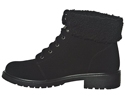 New Boots Ankle up Blknubt03 Lace pW8qAZRT