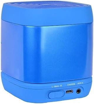 Q Experience CUBE Mono Bluetooth Speaker, Blue: Amazon.co.uk