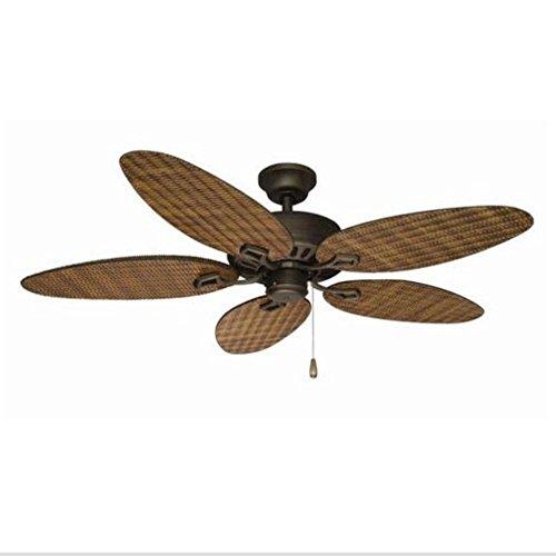 Belmont indoor/outdoor ceiling fan - Natural Rattan Blades