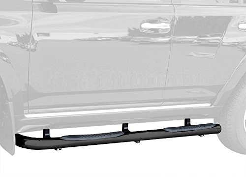 MaxMate Custom Fit 2010-2017 Toyota 4Runner (Excl. Trail Edition & 14-17 SR5); 2010-2013 4Runner SR5 Black 3' Side Step Rails Nerf Bars Running Boards (2pcs with Mounting Bracket Kit)