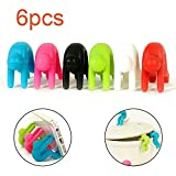LEEGOAL 6Pcs Multi Function Silicone Holder Anti Overflow Bracket for Pot Lid Kitchen Tool Small Person Lifting Device Mobile Phone Bracket