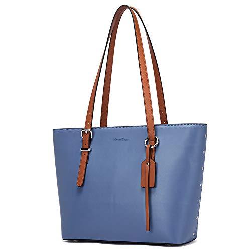 MANTOBRUCE Women's Handbags Purses Designer Leather Tote Shoulder Bag Top Handle Bag for Work - Designer Large Leather Tote