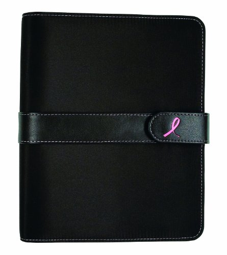 Pink Ribbon Daily Planner - Day-Timer Undated Pink Ribbon Desk-Size Organizer Starter Set, 5.5 x 8.5 Inches (48391)