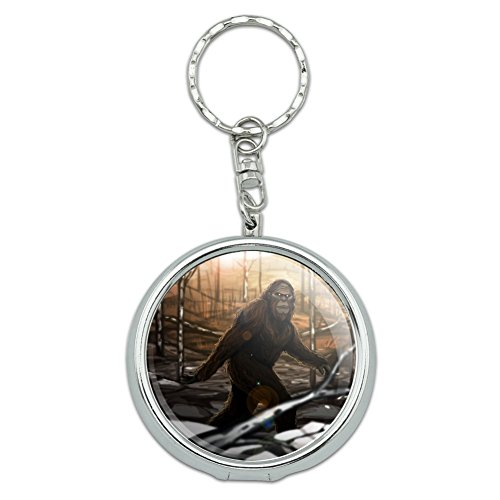 (GRAPHICS & MORE Bigfoot Sasquatch Walking in The Woods Portable Travel Size Pocket Purse Ashtray Keychain with Cigarette Holder)