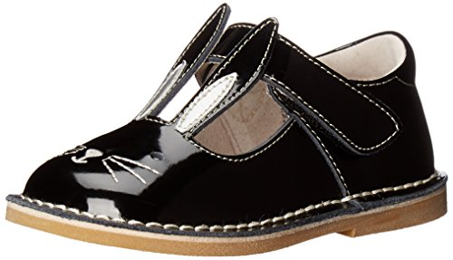Livie & Luca Girls' Molly Flat, Black, 7 M US Toddler