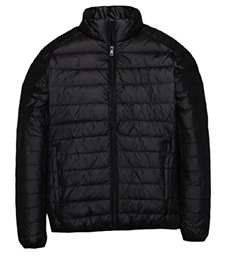 XINHEO Men Plus-Size Ultra Light Weight Solid Relaxed-Fit Down Jackets AS1