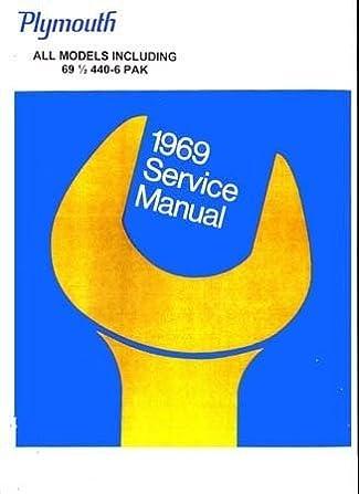 plymouth 1969 service manual chrysler motors corporation amazon 1969 gto plymouth 1969 service manual chrysler motors corporation amazon com books