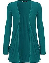 WearAll Women's Long Sleeve Pocket Cardigan