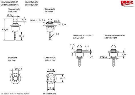Schaller Ruthenium Strap Locks