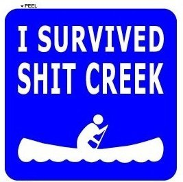 I Survived Shit Creek - Canoeing Rafting Camping Hiking - Sticker Graphic - Auto, Wall, Laptop, Cell, Truck Sticker for windows, cars, trucks, tool boxes, laptops, MacBook - (I Survived Toolbox compare prices)
