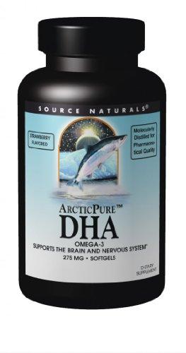 Source Naturals ArcticPure DHA Omega 3, Strawberry, 275mg, 60 Softgels