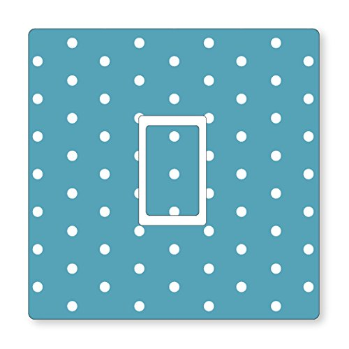 POLKA DOTS PATTERN UK LIGHT SWITCH STICKERS, KITCHEN LIVING ROOM DECORATING (Single Switch Blue)