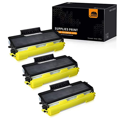 JARBO Compatible for Brother TN650 TN-650 TN580 TN-580 Toner Cartridges, 3 Black, Use with Brother HL-5370DW 5250DN 5340D 5240 Brother MFC-8890DW 8860DN 8480DN 8460N 8870 DCP-8080dn Printer (Brother Toner Tn 650)
