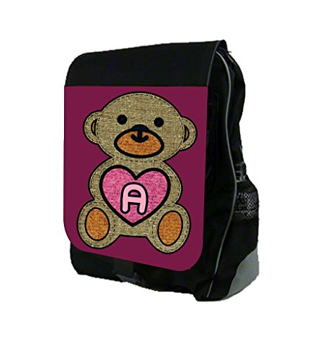 U Customizable School Backpackteddy With A Heart Childrens Design