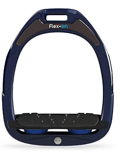 【Amazon.co.jp 限定】フレクソン(Flex-On) 鐙 ガンマセーフオン GAMME SAFE-ON Mixed ultra-grip フレームカラー: ネイビー フットベッドカラー: ブラック エラストマー: ブルー 08306