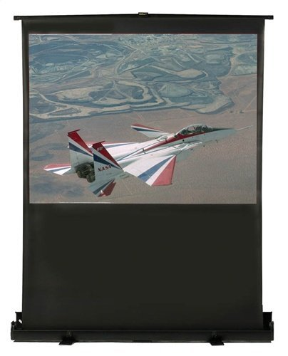 HamiltonBuhl 100 Inch Diaonal. 60 By 80 Inch Portable Floor Rising Screen Video Format,Matte White ()