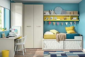 Kinderzimmer Vita 11 Bett Mit Viel Stauraum Fur Spielzeug Wandregal
