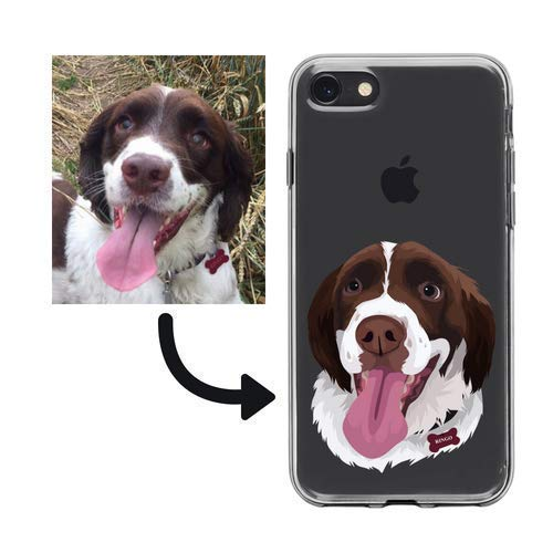 on sale 296d5 2315e PERSONALISED Dog Pet Photo to digital illustration Phone Case iPhone ...