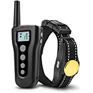 Dog Training Collar 2018 Upgraded 1000ft Remote Rechargeable Waterproof Electric Shock Collar with Beep Vibration Shock for Small Medium Large Dogs
