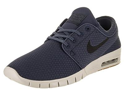 Nike Stefan Janoski MAX Mens Fashion-Sneakers 631303-402_10.5 - Thunder Blue/Black-Gum MED Brown