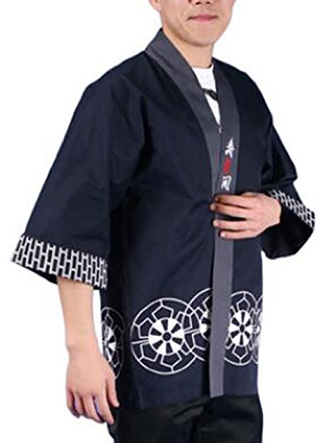 Marshel Japanese Chef Itamae Costume Cosplay AX-JP-020 Navy XL
