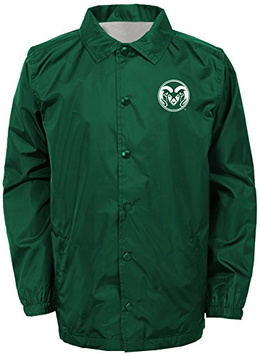 NCAA Colorado State Rams Youth Boys Bravo Coaches Jacket, Black, Youth Large(14-16) by NCAA by Outerstuff
