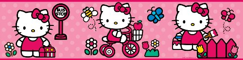 ROOMMATES RMK1737BCS Hello Kitty The World of Hello Kitty Peel and Stick (Hello Kitty Wallpaper)