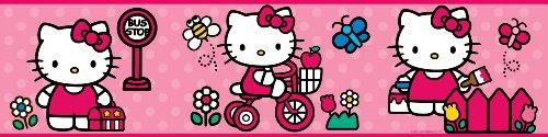 ROOMMATES RMK1737BCS Hello Kitty The World of Hello Kitty Peel and Stick Border