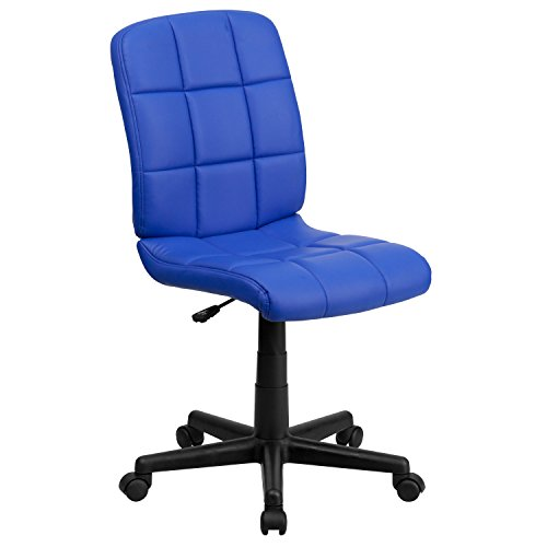Flash Furniture Mid-Back Blue Quilted Vinyl Swivel Task Chair (Office Blue Chair)